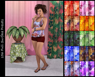 DG Iray Tropical Fabrics Shaders