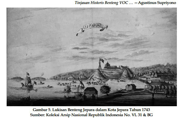 Benteng Jepara dalam Kota Jepara Tahun 1743/ Dok. Jurnal Paramita Vol 25(1) Januari 2015