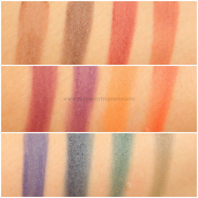 viseart dark matte palette swatches
