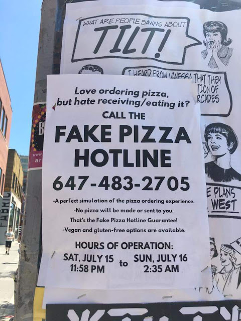 Funny Fake Pizza Hotline Poster Sign Picture