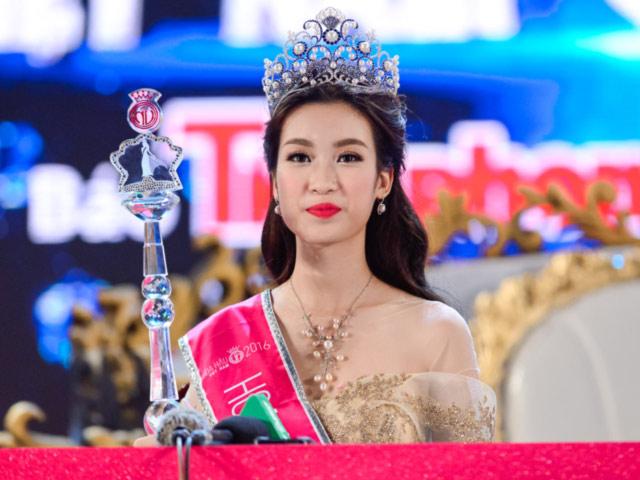 Hoa hậu Mỹ Linh đã lọt vào top 40 thông qua phần thi phụ hùng biện