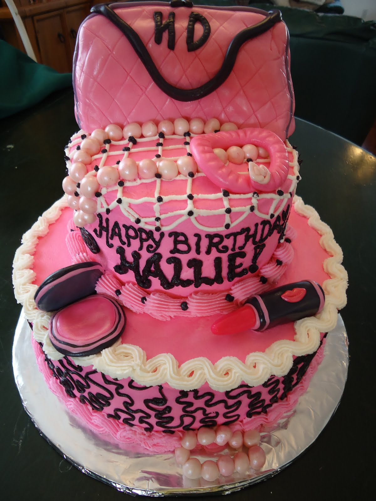Cat's Cake Creations: Pretty in Pink Fashion Birthday Cake