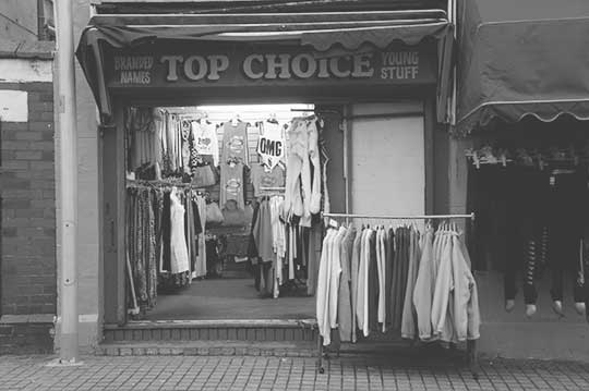 urban photography, shops, street scene, black and white, photo, contemporary, art, modern,