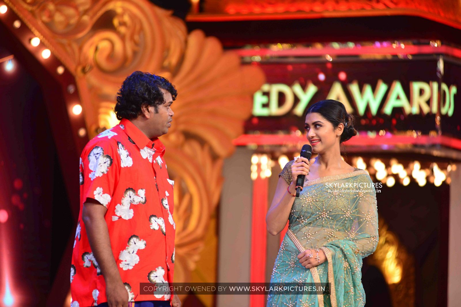 mamtha mohandas latest photos from asia  comedy awards