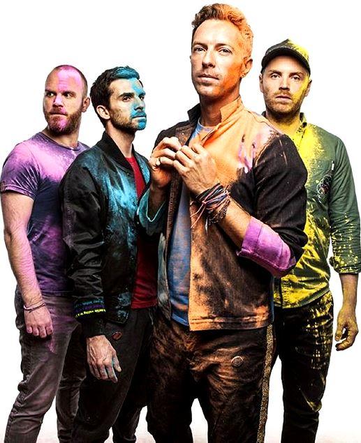 Foto de Coldplay llenos de pintura