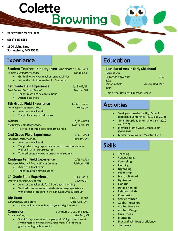 Preschool Teacher Resume Samples Sample Resumes - great teacher resume examples