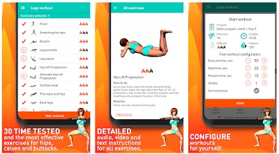 aplikasi mengecilkan paha di hp android
