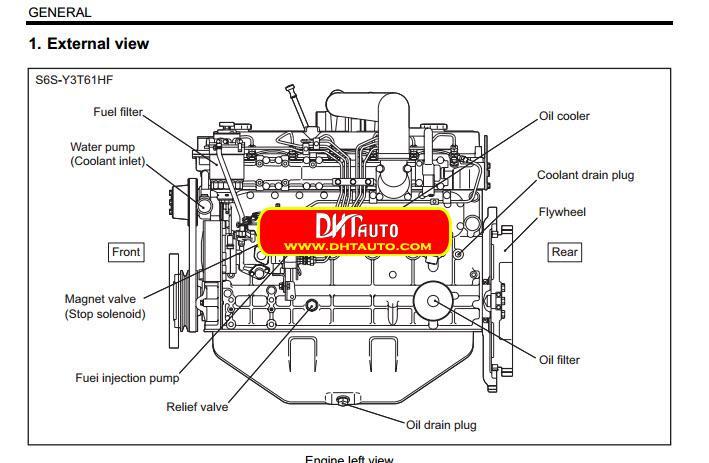 En.Oto-hui.com: Mitsubishi Diesel Engine S6S-Y3T61HF,S6S