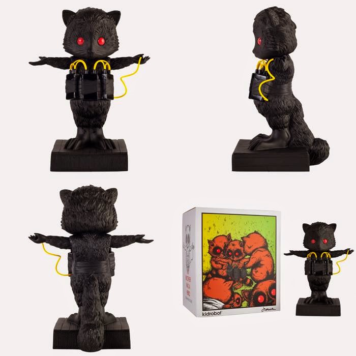 "Kidrobot Exclusive Black Edition ""My Brother Was A Hero"" Vinyl Figure by Jermaine Rogers"