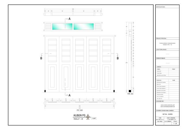 Detail Kosen Pintu Gerbang Rumah Lantai 1