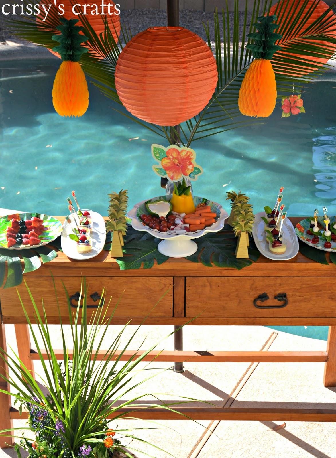 Crissy S Crafts Luau Party Ideas