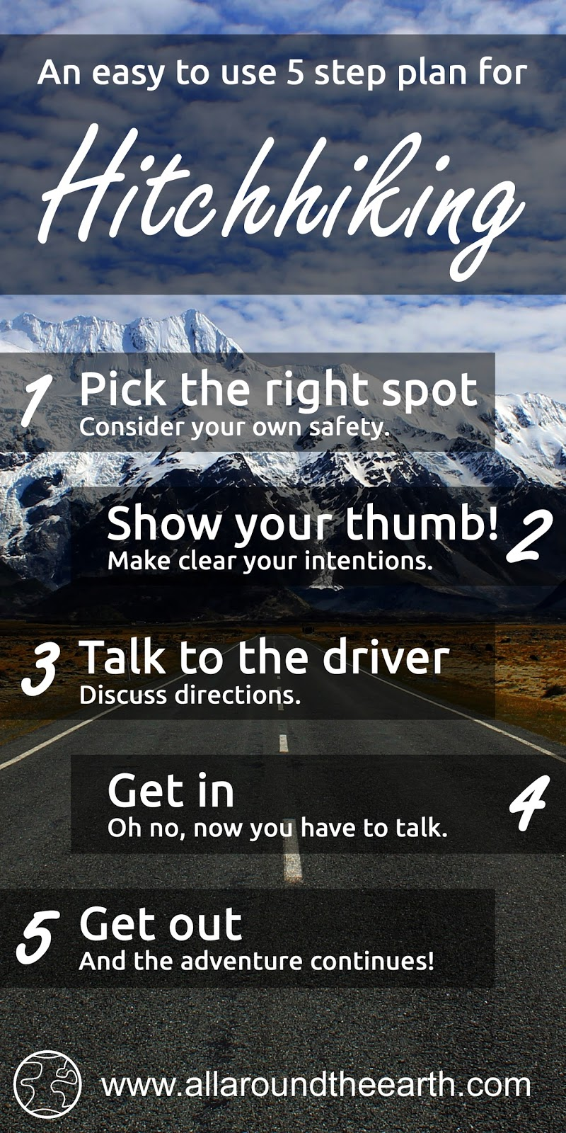 A 5 step plan that shows you how to hitchhike