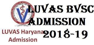 LUVAS BVSc Admission Form 2018