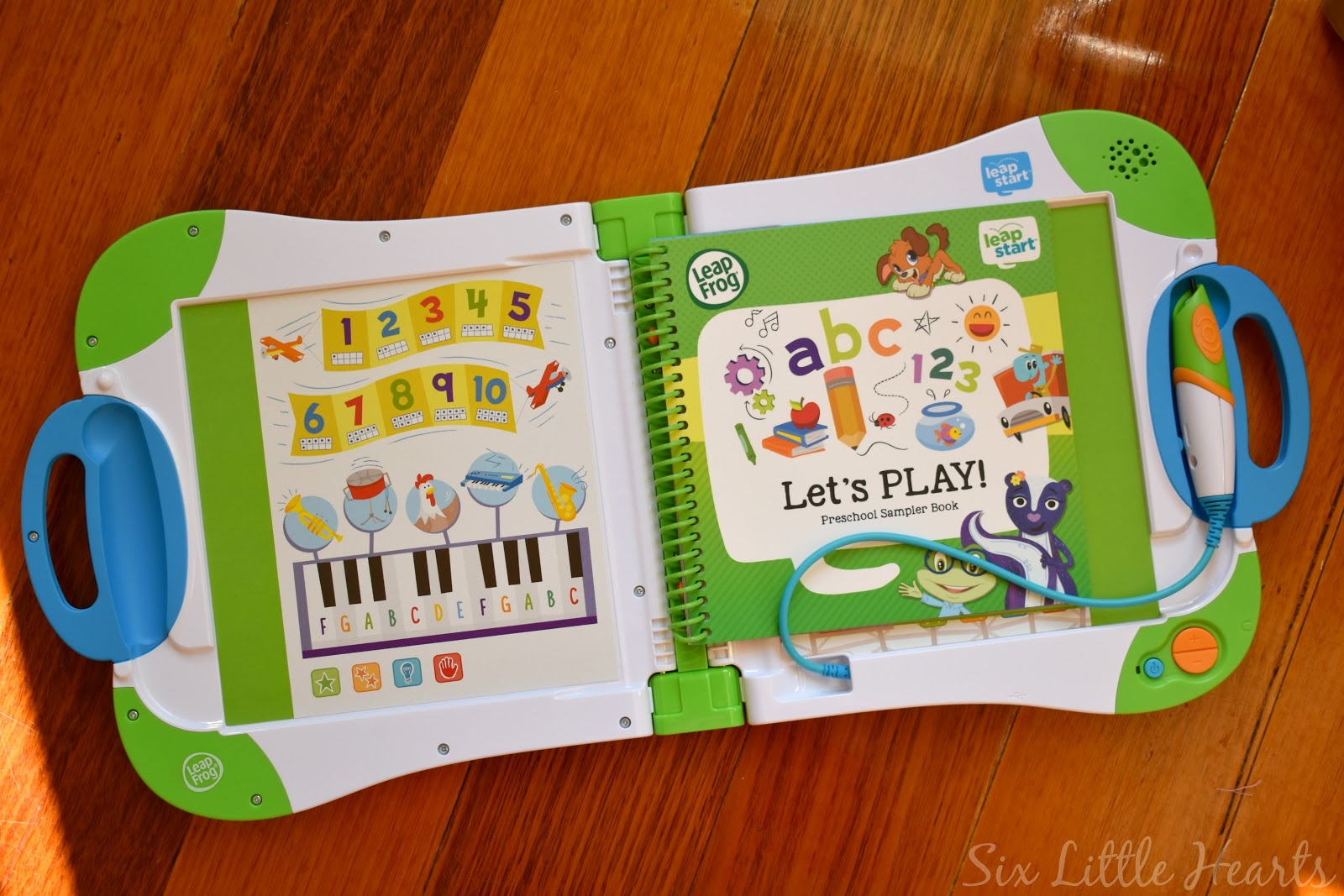 A preschool sampler book is included with your initial LeapStart purchase  to get kids started.