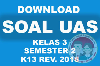 Download Soal UAS / PAS Kelas 3 Semester 2 K13 Revisi 2018