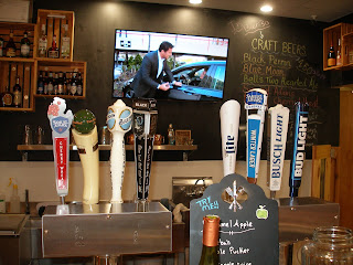 Beer taps at the Wanigan deli