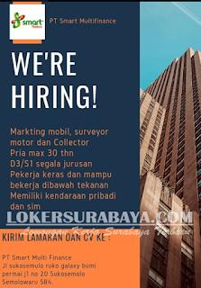 We Are Hiring PT. Smart Multi Finance Surabaya Terbaru Mei 2019