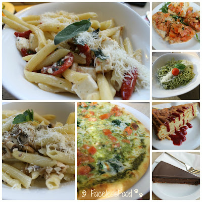 A selection of vegetarian dishes from Vapiano Italian Restaurant