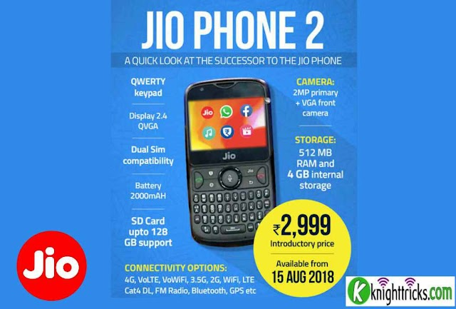 JioPhone 2 launched at Rs 2,999; Jio Phone 2 Specifications; Jio GigaFiber rollout from August 15