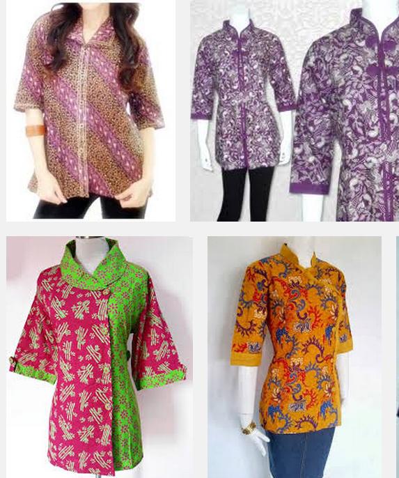Model Baju Batik Wanita 2015: Model Baju Batik Kantoran Wanita Terbaru 2015 Dan 2016