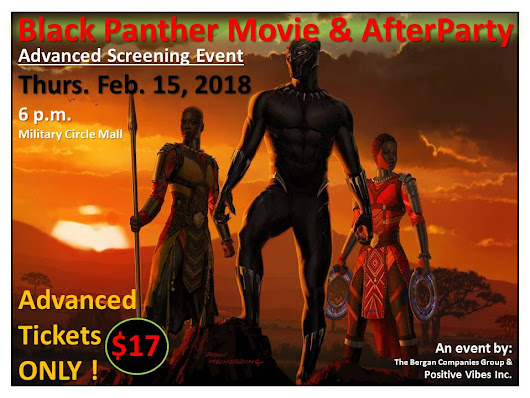 Advanced showing of Marvel's BLACK PANTHER movie on Thursday 2/15/18 in Norfolk Virginia #BlackPanther #TheBlackPantherMovie
