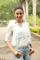 Rakul Preet Singh in Jeans and White Shirt At Jaya Janaki Nayaka le Logo Launch ~  Exclusive 073.JPG