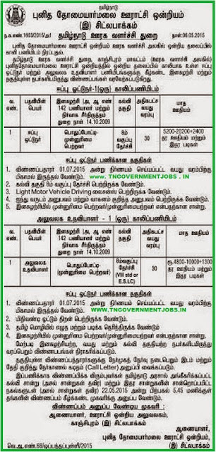 St Thomas Mount Panchayat Union Recruitments (www.tngovernmentjobs.in)