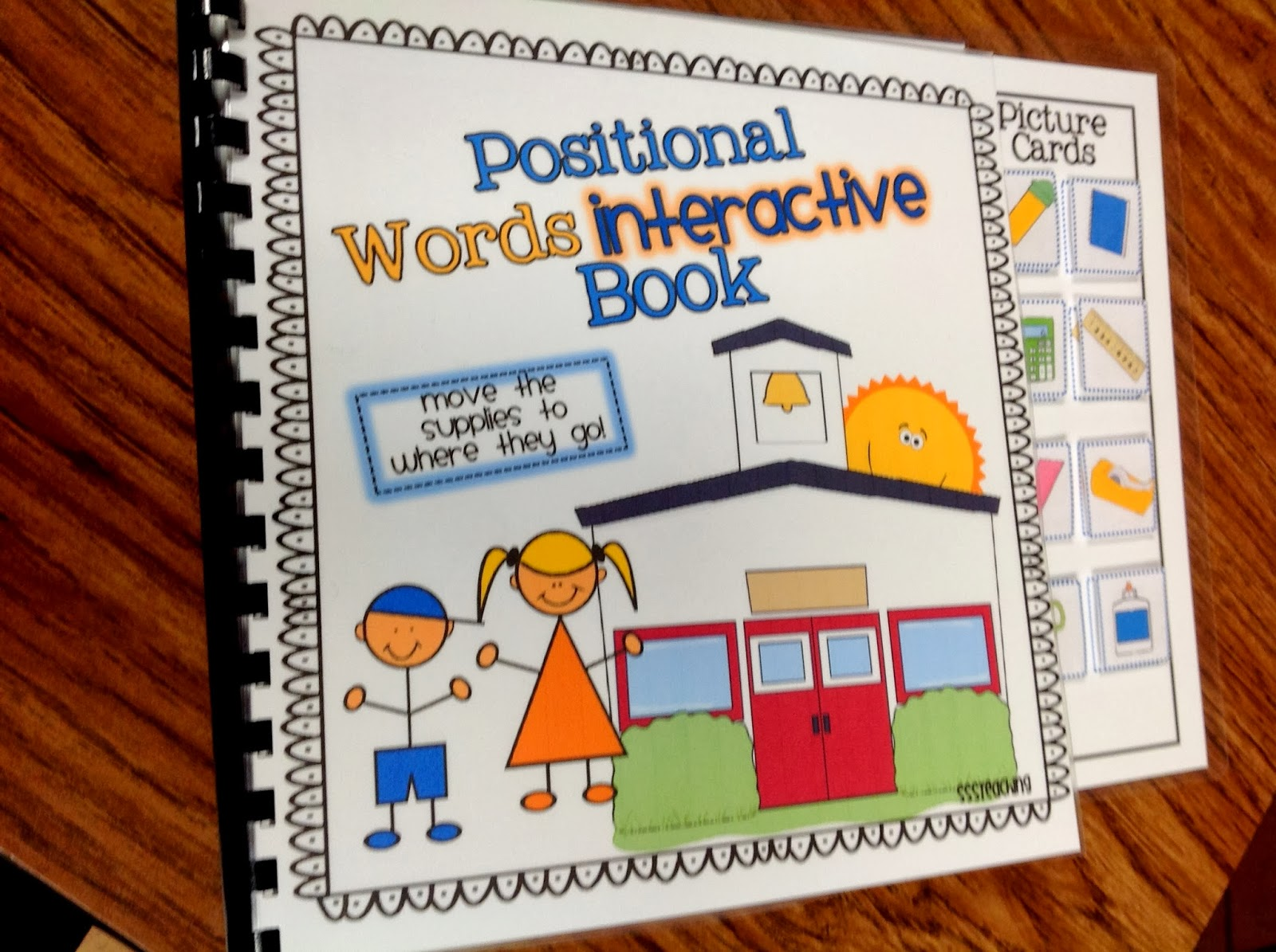 Positional Words Interactive Book