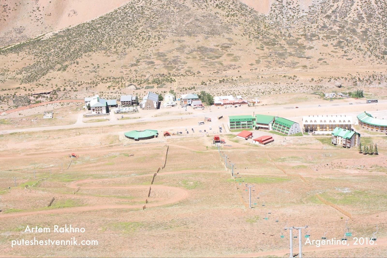 Фуникулер в горах Аргентины