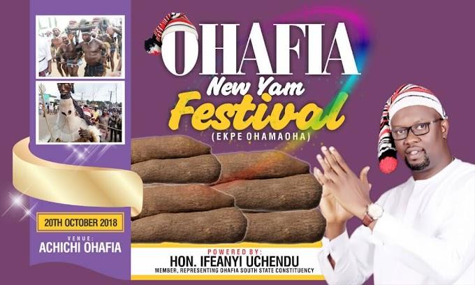Ohafia New Yam Festival Holds Saturday.