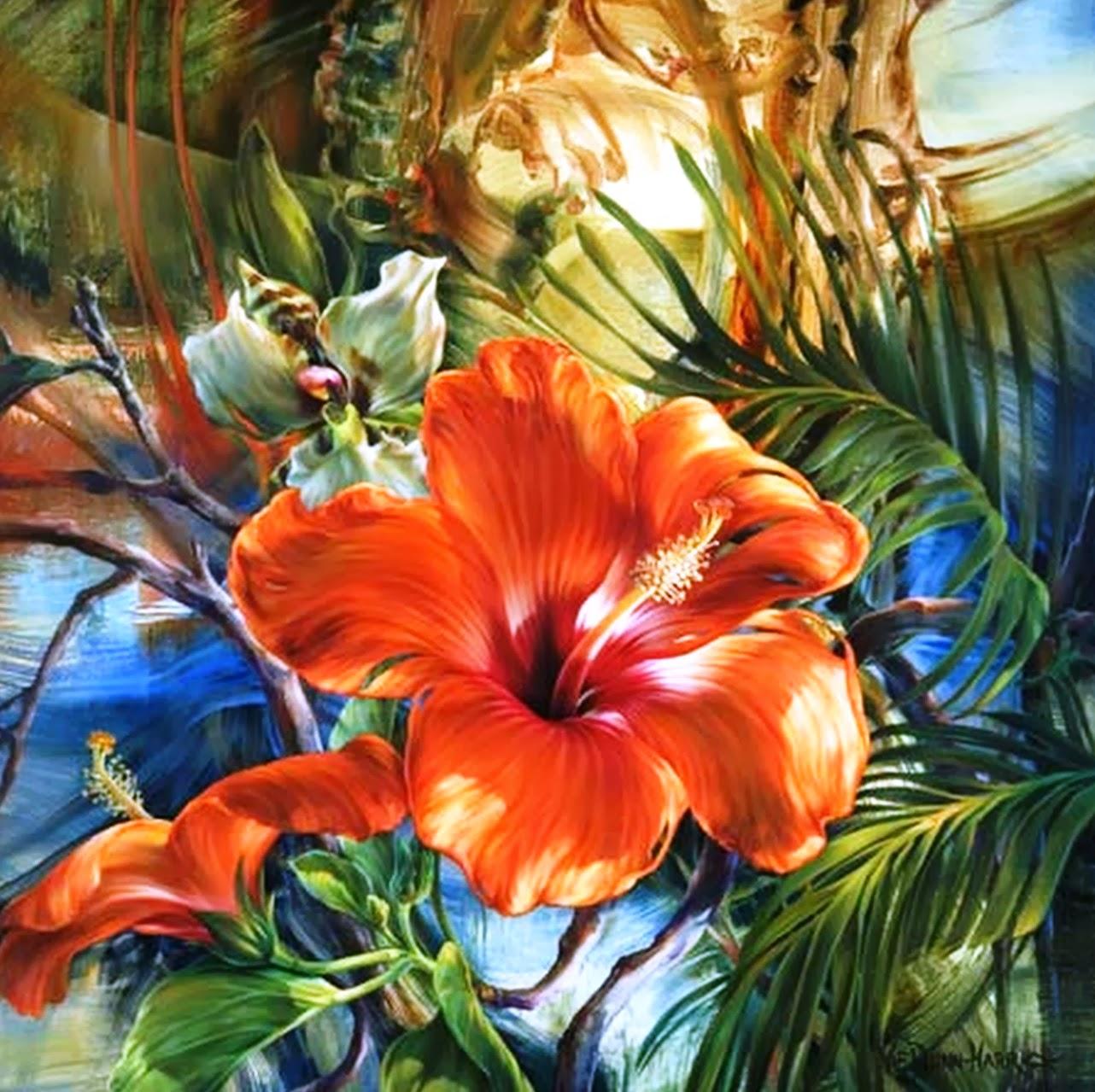 Pintura moderna y fotograf a art stica pinturas modernas - Cuadros flores modernas ...
