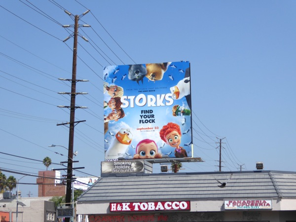 Storks movie billboard