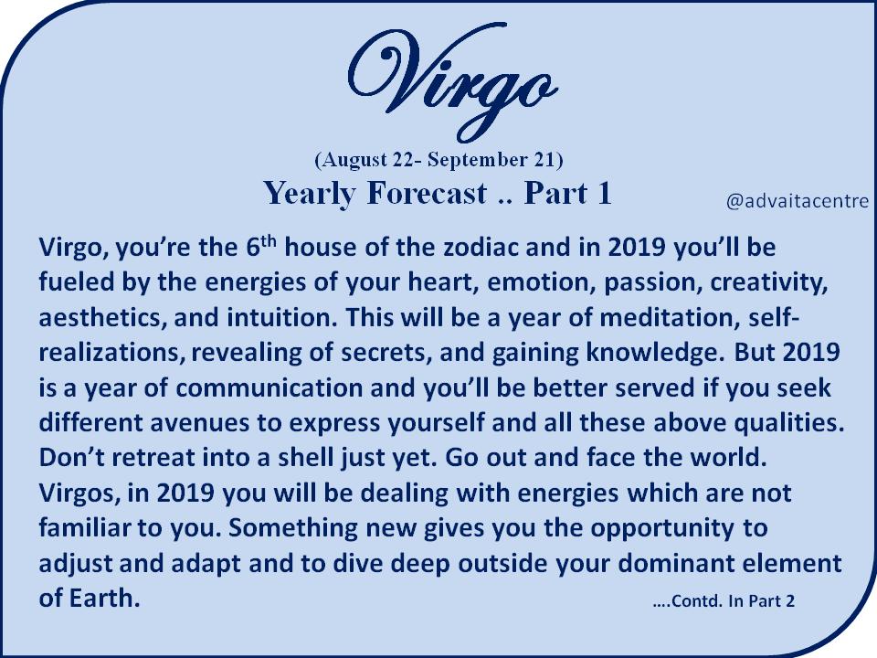 VIRGO 2019- Yearly Horoscope and Tarot Reading     Part 1