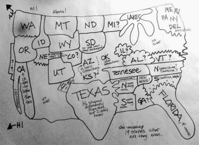 world of technology attempts at drawing a map of the usa
