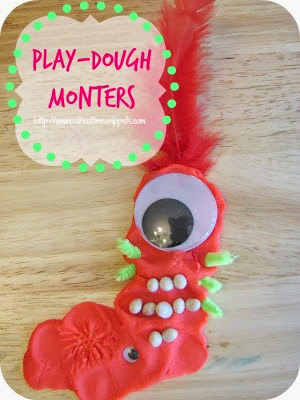 playdough monster
