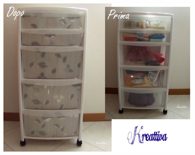 Decorazione cassettiera in plastica kreattivablog for Regalo cassettiera