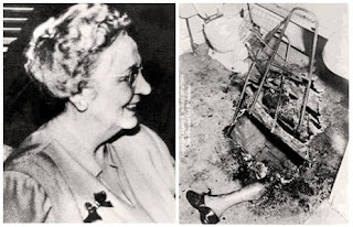 Photos de Mary Reeser et de ses restes après combustion