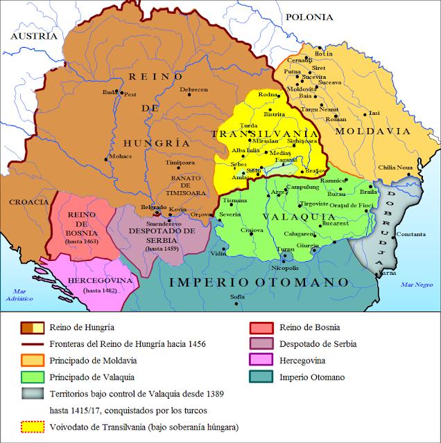 Resultado de imagen de mapa de valaquia mircea I
