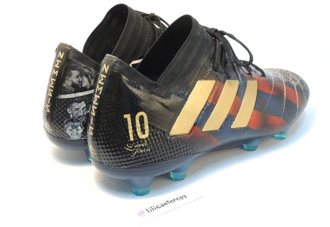 Messi Shows Off Custom Hand-Painted Adidas Nemeziz Boots ...