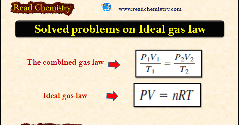 Solved problems on Ideal gas law - Read Chemistry