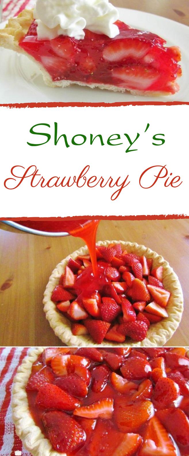 Shoney's Strawberry Pie #strawberry #desserts