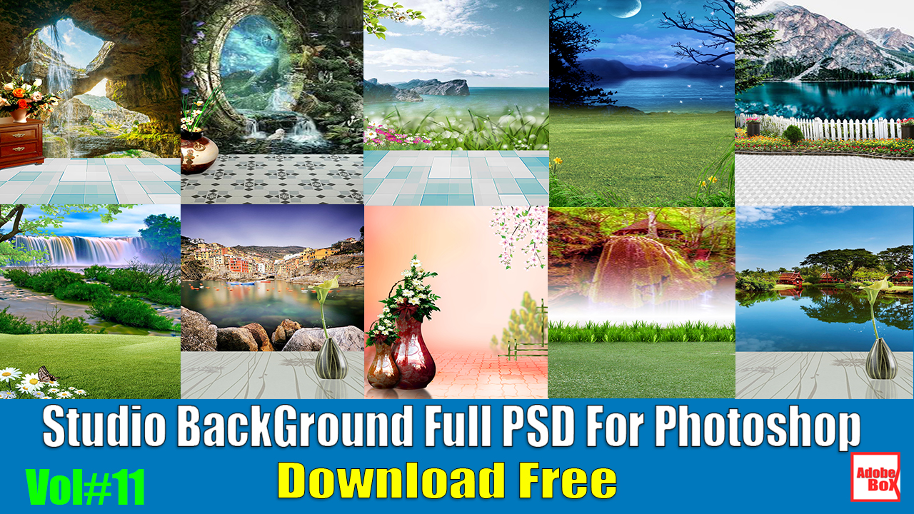 Studio BackGround Full PSD For Photoshop Vol#11 - Adobe BoX