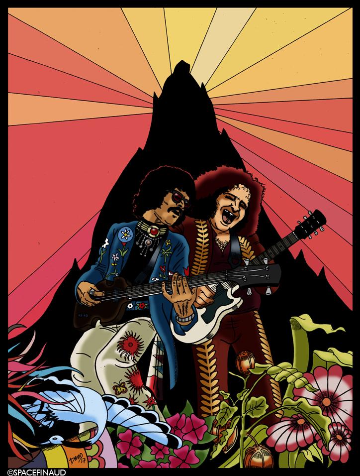 L'un des groupes pionnier du hard Rock et heavy Metal de la scène américaine, Leslie West (à droite) et Felix Pappalardi (à gauche), les Laurel & Hardy du Rock'n'roll !     Membres :  Leslie West : (Guitare, chant)  Felix pappalardi : (Basse, chant)  Corky Laing : (Batterie)  Steve Knight : (Claviers)      Des albums à conseiller :  1969 : Mountain (album solo de Leslie West)  1970 : Climbing! 1971 : Nantucket Sleighride 1971 : Flowers of Evil