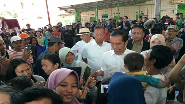 Presiden Jokowi Cek Posko Penanganan Bencana Tsunami Selat Sunda