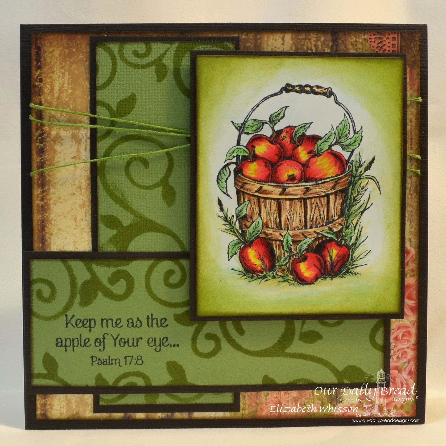 Our Daily Bread Designs, Apples, Fancy Foliage Dies, Blushing Rose Paper Collection, designed by Elizabeth Whisson