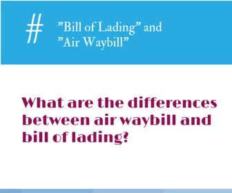 unterschied waybill und bill of lading