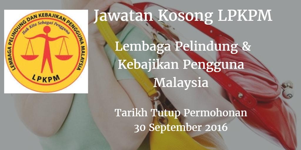 Jawatan Kosong LPKPM 30 September 2016