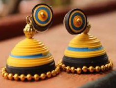 homemade Trendy Quilling Earring Jhumka Designs 2015 - quillingpaperdesigns