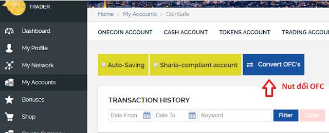 CoinNews: Hướng dẫn quy đổi từ Onecoin thành cổ phiếu OFC