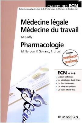 Télécharger Médecine légale-Médecine du travail-Pharmacologie pdf